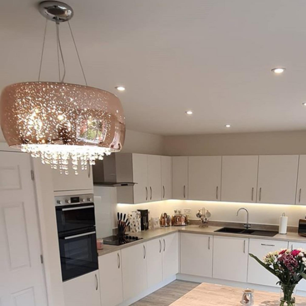 Kitchen light installed by KA Davies Electrical