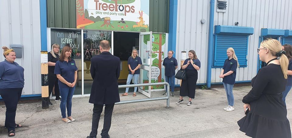 James Grundy MP recently visited Treetops soft play in Golborne