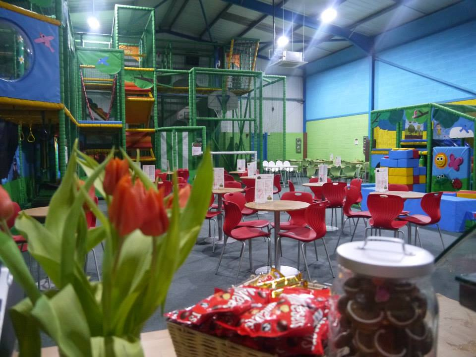 Cafe areas at Treetops soft play in Golborne