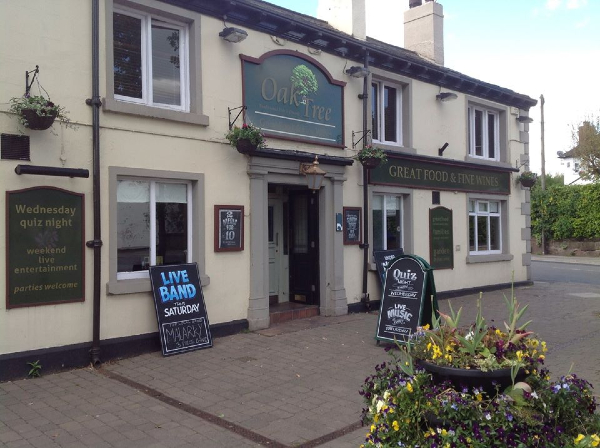 The Oak Tree pub in Newton-le-Willows