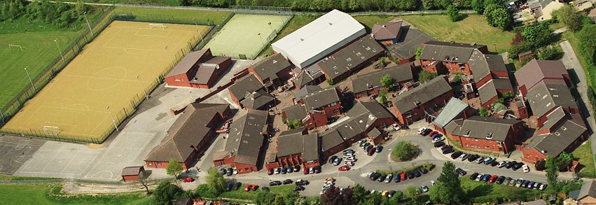 Lowton High School seen from the air