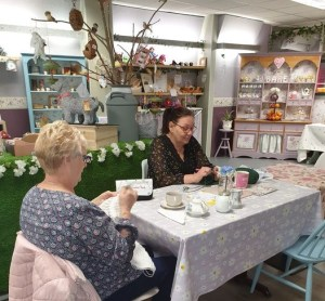 Knit and Natter group at Something Bloomin Different in Golborne