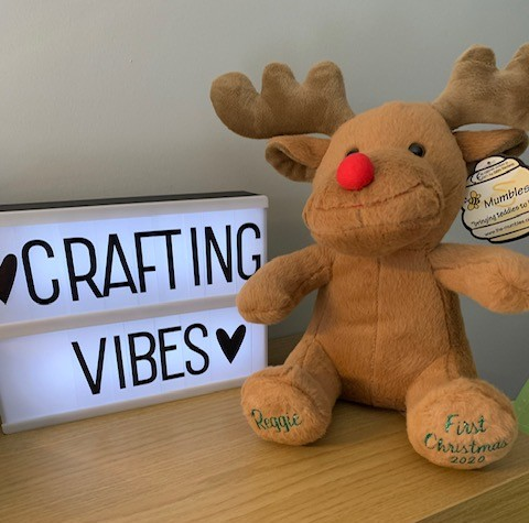 Crafting Vibes cuddly reindeer toy