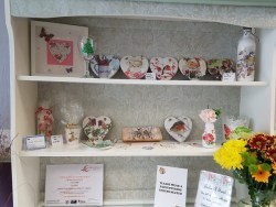Amber House Crafts items on display at Something Bloomin' Different in Golborne