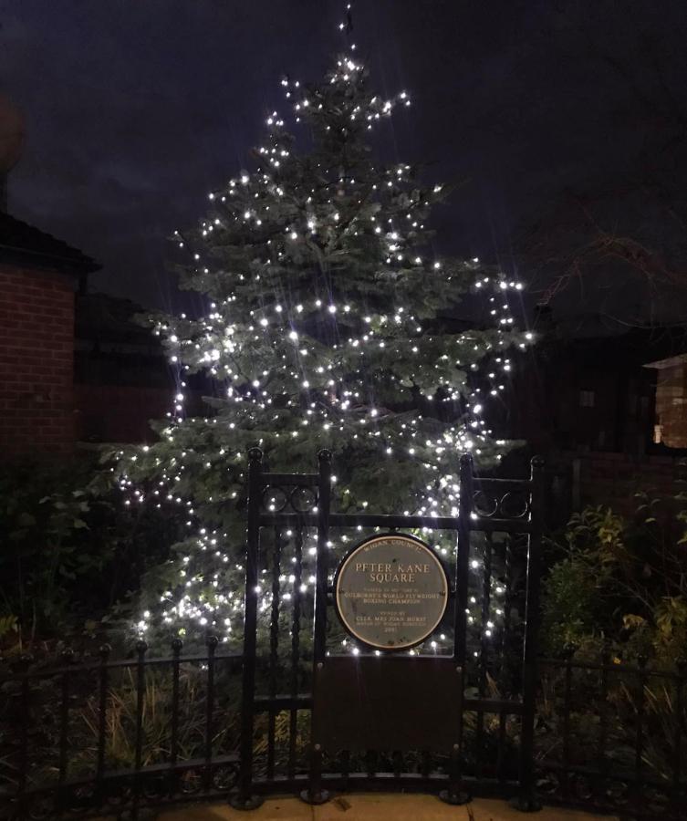 Christmas tree in Golborne lit up