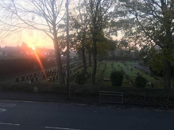 Naomi Jessica's photo of sunrise over Newton Road, Lowton in Autumn 2020