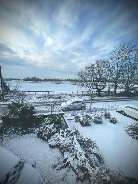 Heath Lane in the snow, taken by Jasmine Slater