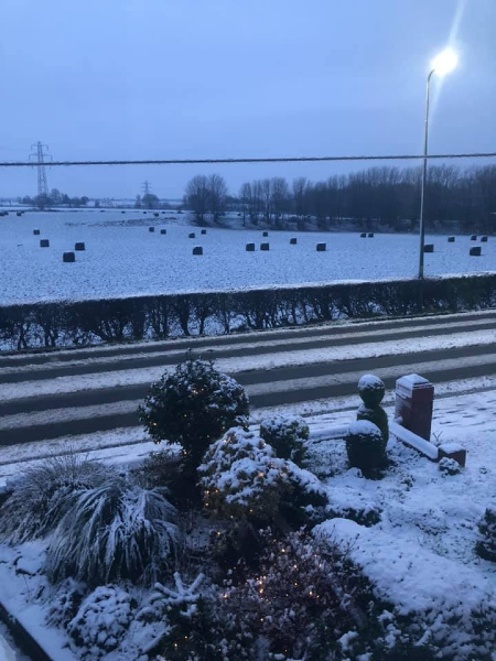 View from Newton Road, Lowton, in the snow, taken by Karen-Louise Byard