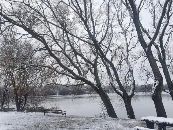 Kayleigh Roberts' photo of Pennington Flash in the snow