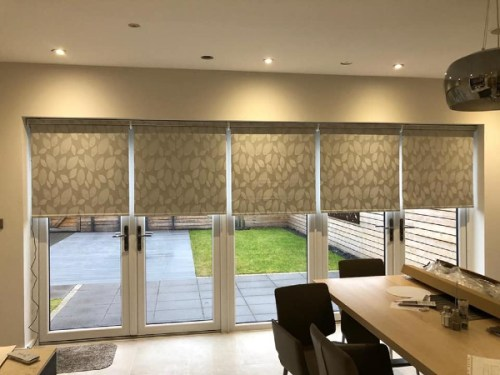 Automated roller blinds by Grove Blind & Shutter Co.