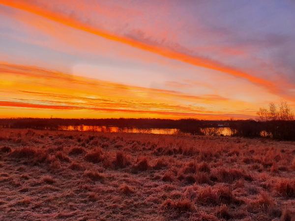 Mark Cunniffe's photo of sunrise over Pennington Flash