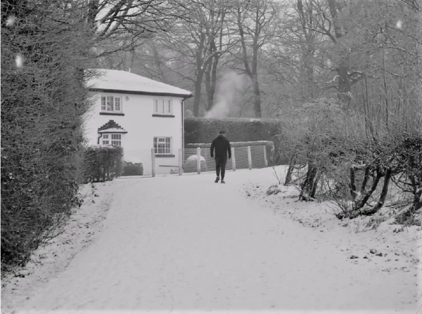 Keepers Cottage, Golborne, in the snow - taken by Bri Bamford