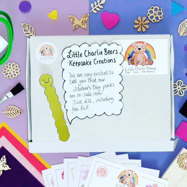 A Keepsake Creations creative activity pack from Little Charlie Bears