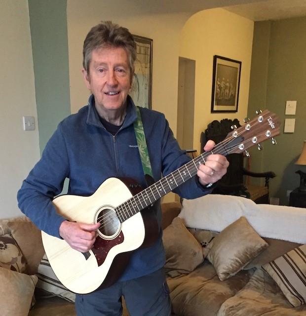 Nick Peake with his new guitar