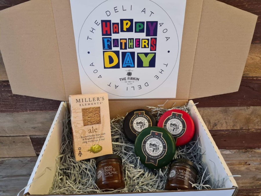 Beer and snacking box for Fathers Day