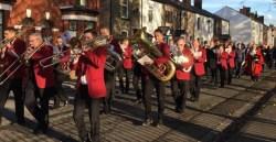 Golborne Brass Band on parade