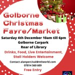 Golborne Christmas Fair 2021