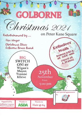 Golborne Christmas Lights switch on 2021