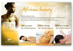 Thermae - Wellness of Africa Lowtone webdesign en grafische vormgeving Den Haag