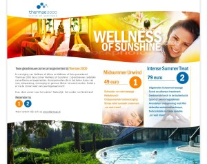 Thermae - Wellness of Sunshine Lowtone webdesign en grafische vormgeving Den Haag