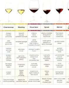 Food wine pairing chart also ideas for the holidays lowvelder rh