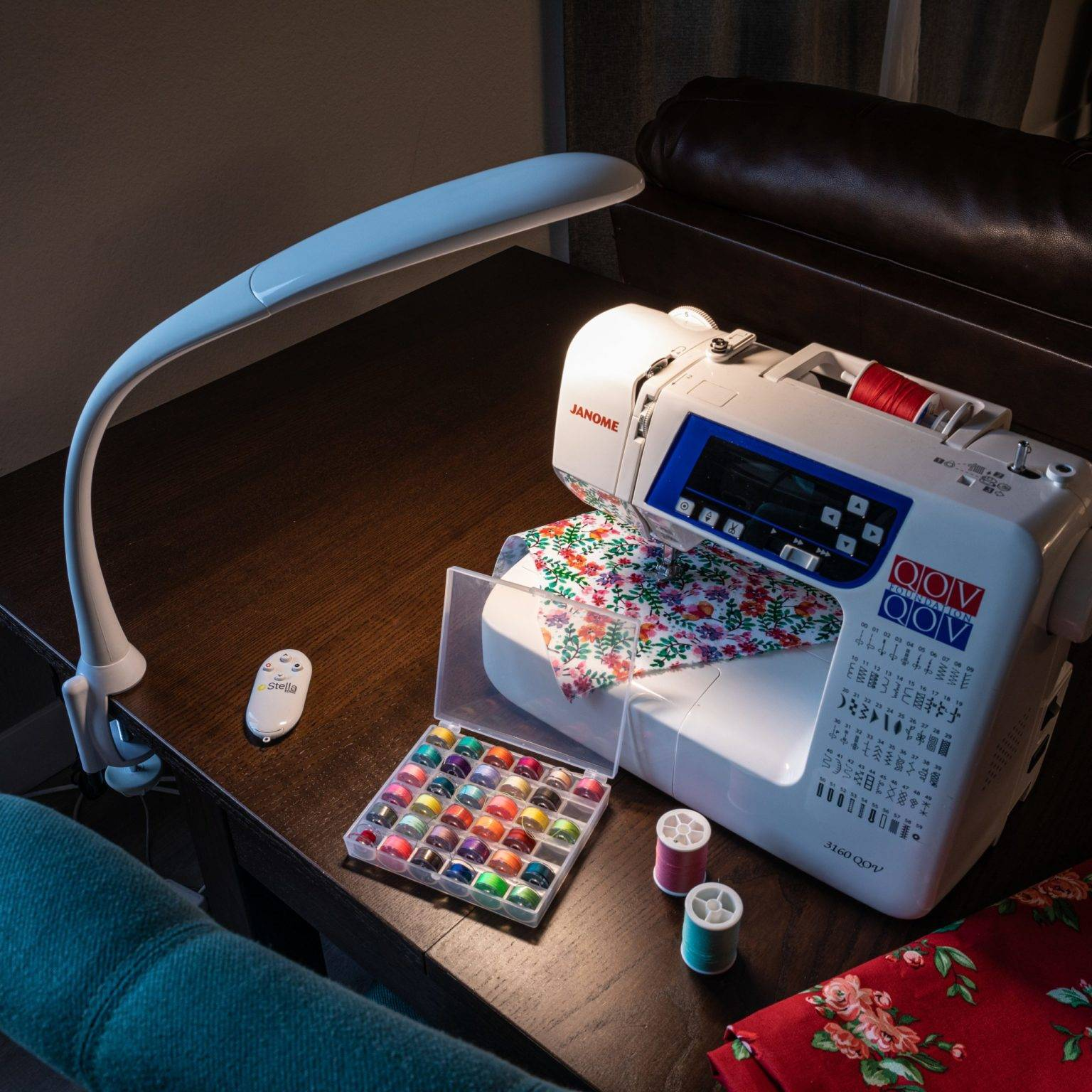 Sewing with the Stella EDGE LED task lamp