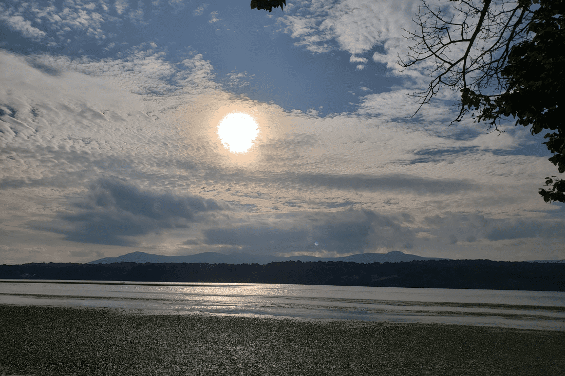 Afternoon sun on an overcast day