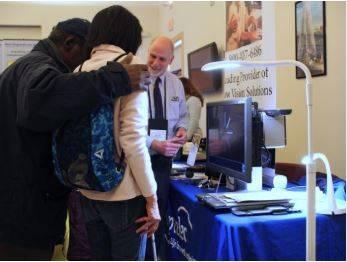 Stu Flom at Carroll Center Tech Fair