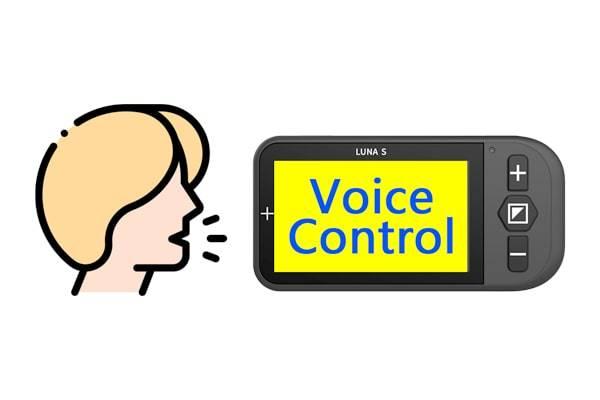 Luna S portable video magnifier voice activation feature