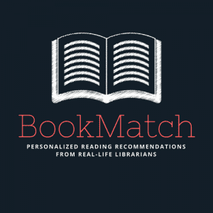 BookMatch library program logo. Personalized reading recommendations from real life librarians.
