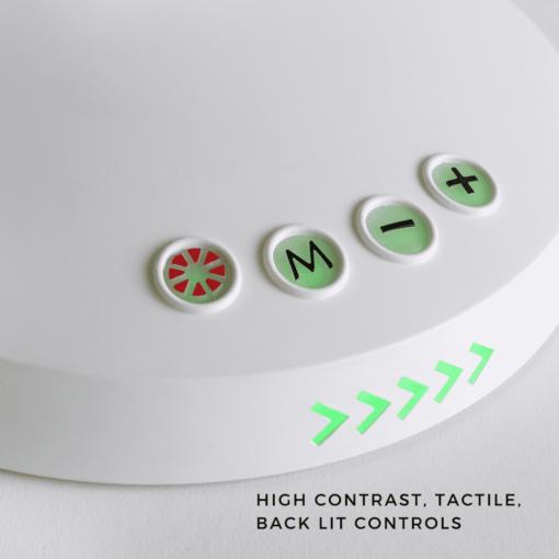 Stella GO High contrast, tactile, backlit controls