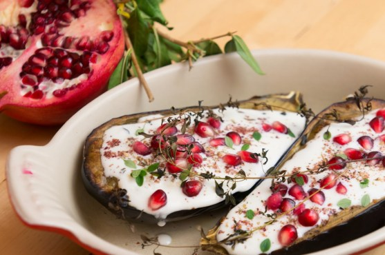 """Eggplant with Buttermilk Sauce"" from ""Plenty: Vibrant Vegetable Recipes from London's Ottolenghi"" by Yotam Ottolenghi"