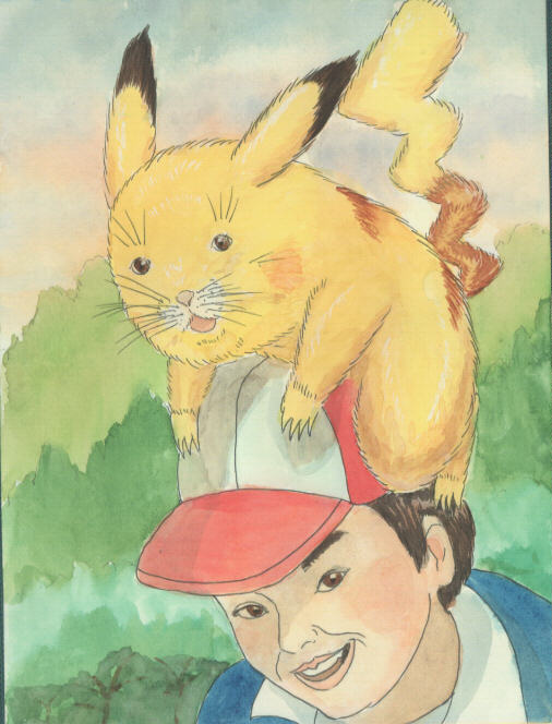 Best Pokemon Fan Art Evar Pokemon Pals W Ash Ketchum