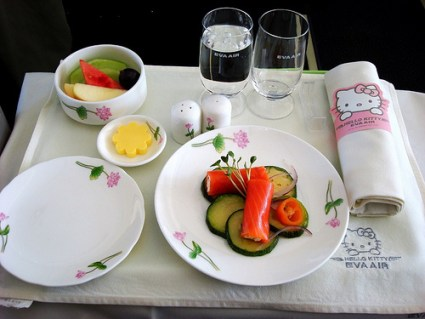 hello kitty airlines food waitress plane japanese 1