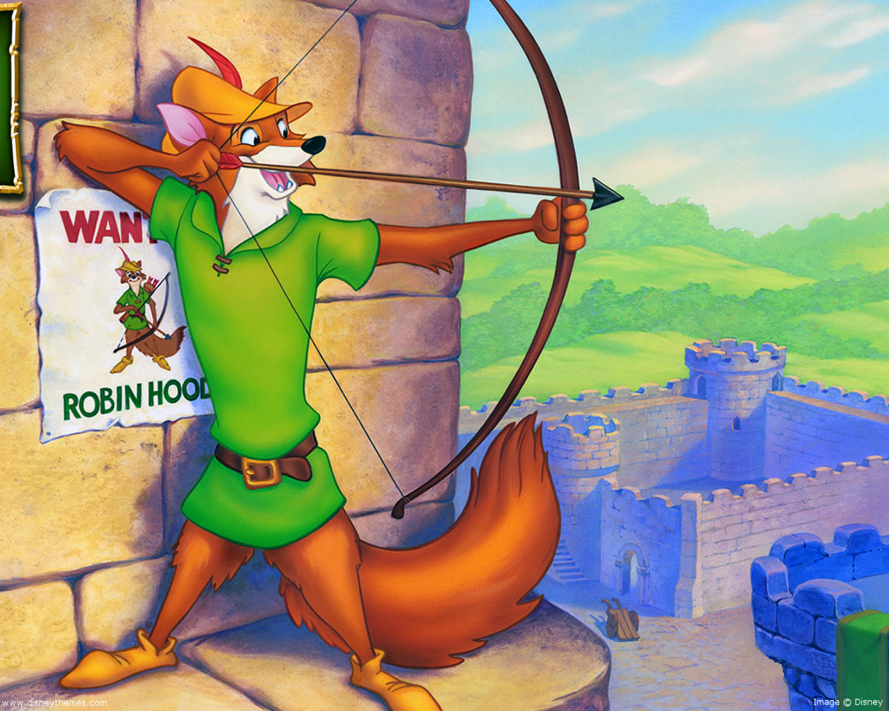 "Robin Hood appeared as a fox in Disney's 1973 film ""Robin Hood."""