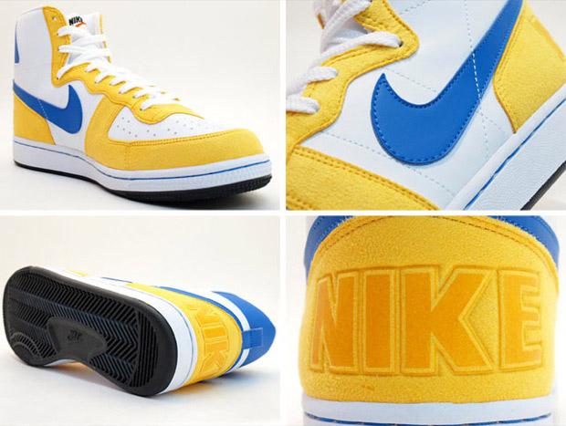 New High-Top Nike Terminator W/ Bright Yellow/Blue & Green ... Fergie Olver