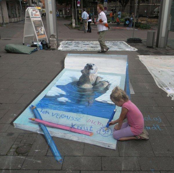 Nikolaj Arndt 3d Perspective Artwork Featuring Horses Polar Bears Cut Rope &