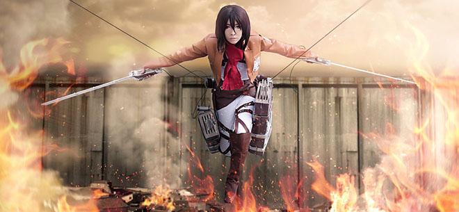 Lkng attack on titan mikasa_ackerman_from_attack_on_titan_cosplay_fire_by_yukigodbless-d6gox54