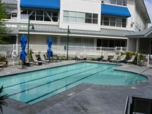 Sheraton Petaluma pool, Petaluma, California