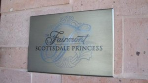 Fairmont Scottsdale Princess plaque