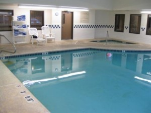 Holiday Inn Express pool at Ashland, Oregon