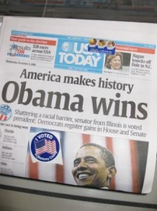USA Today November 5, 2008 Obama Wins