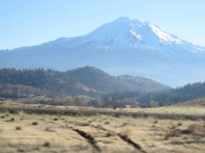 Mt. Shasta, California view from I-5 near Dunsmuir