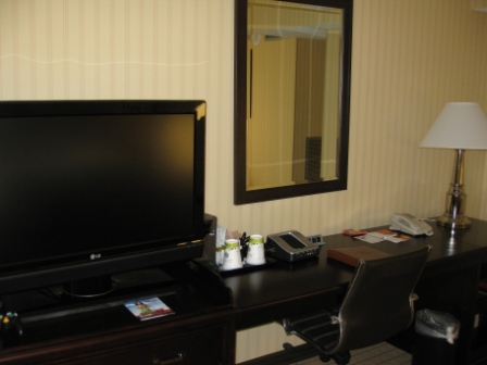 Sheraton Denver West desk and crooked mirror