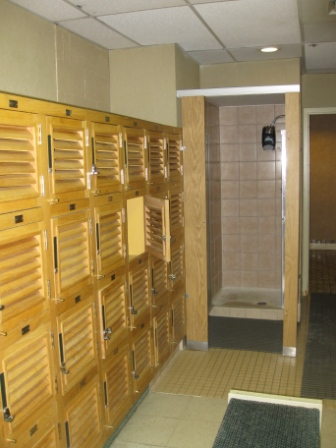 Sheraton Denver West Fitness Center lockers and showers