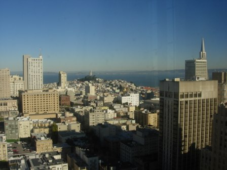 Westin St. Francis view to Coit tower