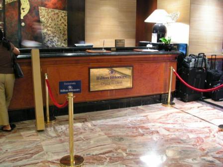 Hilton HHonors Reception Desk, Hilton Singapore