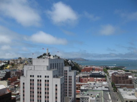 Le Meridien view north to Coit Tower