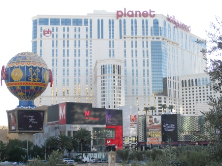 Las Vegas Planet Hollywood Casino view from Bellagio