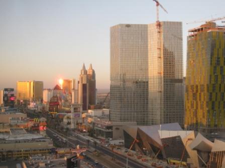 Planet Hollywood Las Vegas view of Strip at daybreak
